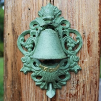Antique Style Door Bell Cast Iron WELCOME Dinner Bell Wall Decor Cast Iron Welcome Bell Outdoor Store Shop Home Pub Bar Decor