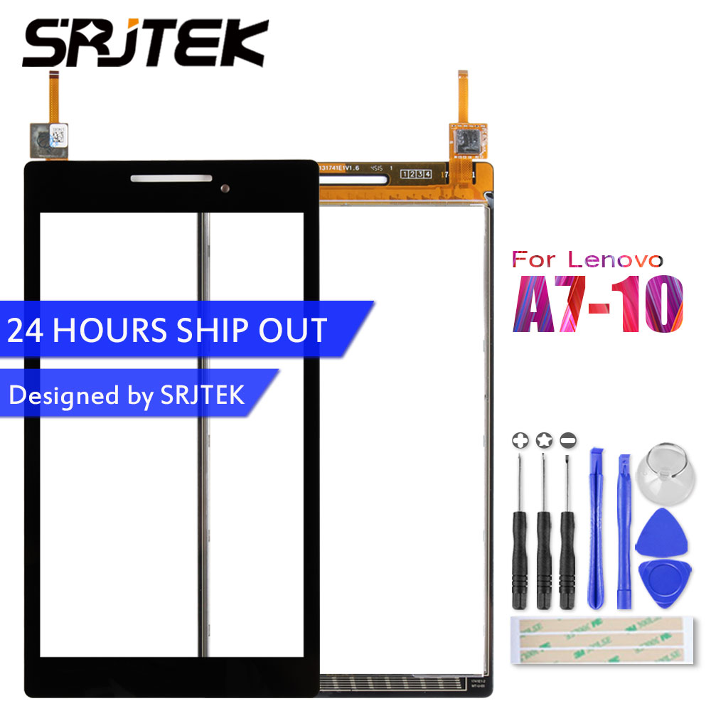 SRJTEK 7 Touchscreen For Lenovo Tab 2 A7-10 A7-10F A7-20 A7-20F Touch Screen Sensor Tablet PC Replacement For A7-10 Digitizer srjtek new 7 inch lcd display touch screen digitizer assembly replacements for lenovo tab 2 a7 10 a7 10f free shipping