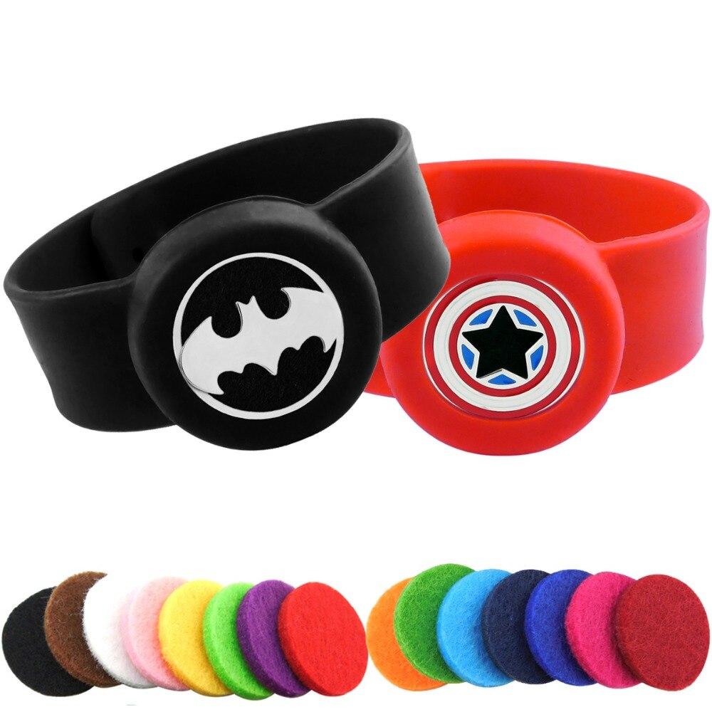 7291ca27dad Mouse over to zoom in. Kids Batman Adjustable Mosquito Repellent Bracelet  Essential Oil Diffuser Bracelet Children Men Women ...