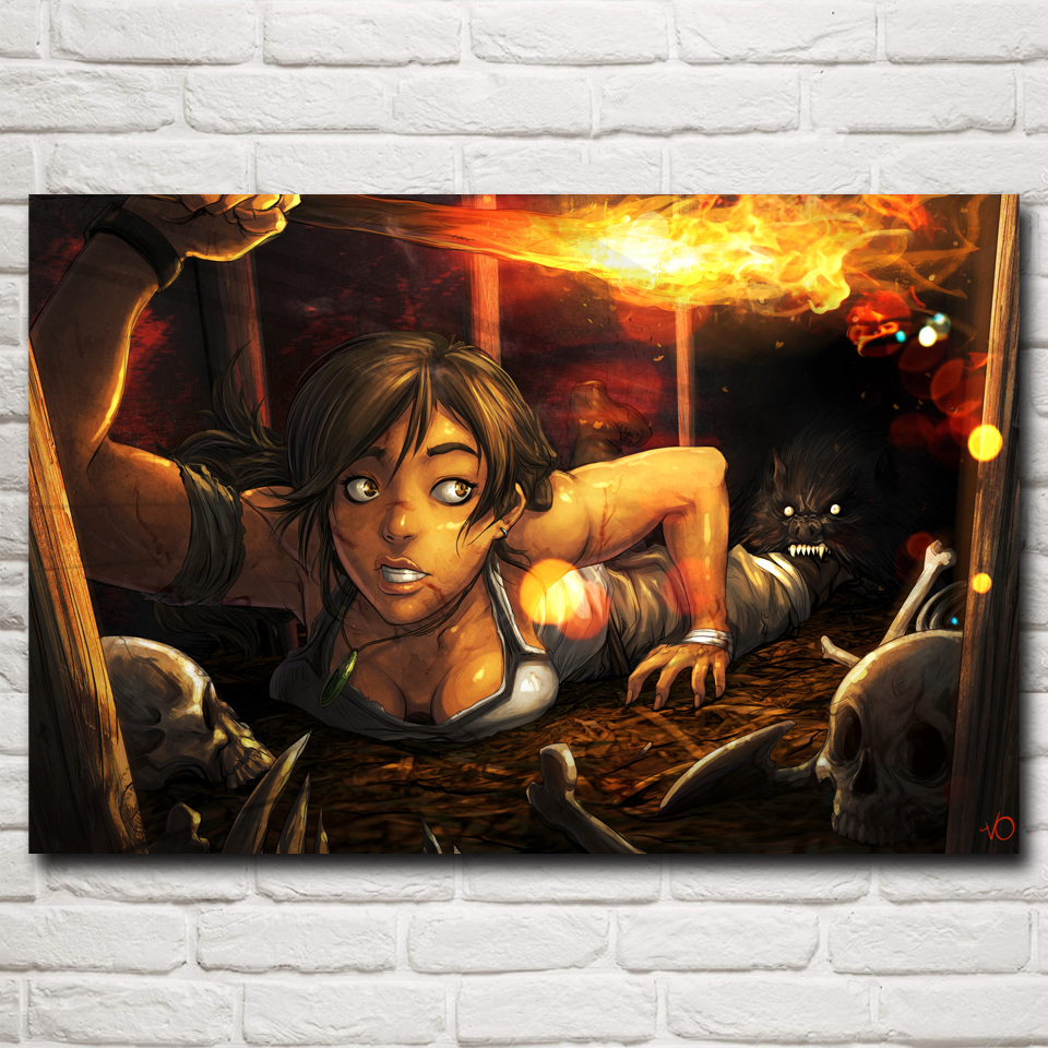 Rise Of The Tomb Raider Art Silk Fabric: Online Buy Wholesale Pc Tomb Raider From China Pc Tomb