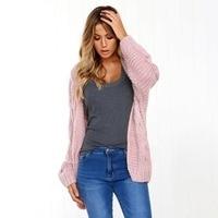 2018 Women Autumn Loose Fit Cardigans Sweater Long Batwing Sleeve Sweater Outwear Tops