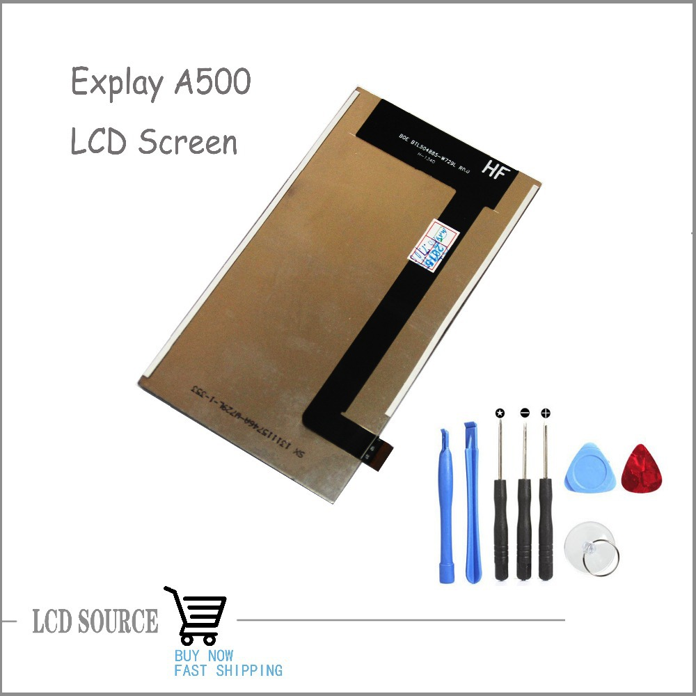 OEM LCD Display For Explay A500 Screen Replacement Parts For Explay Cellphone Free Tracking With Tools