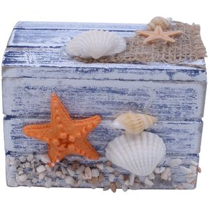 Image 2 - Mini Sea Wooden Pirate Treasure Jewellery Storage Chest Craft Box Case Organiser