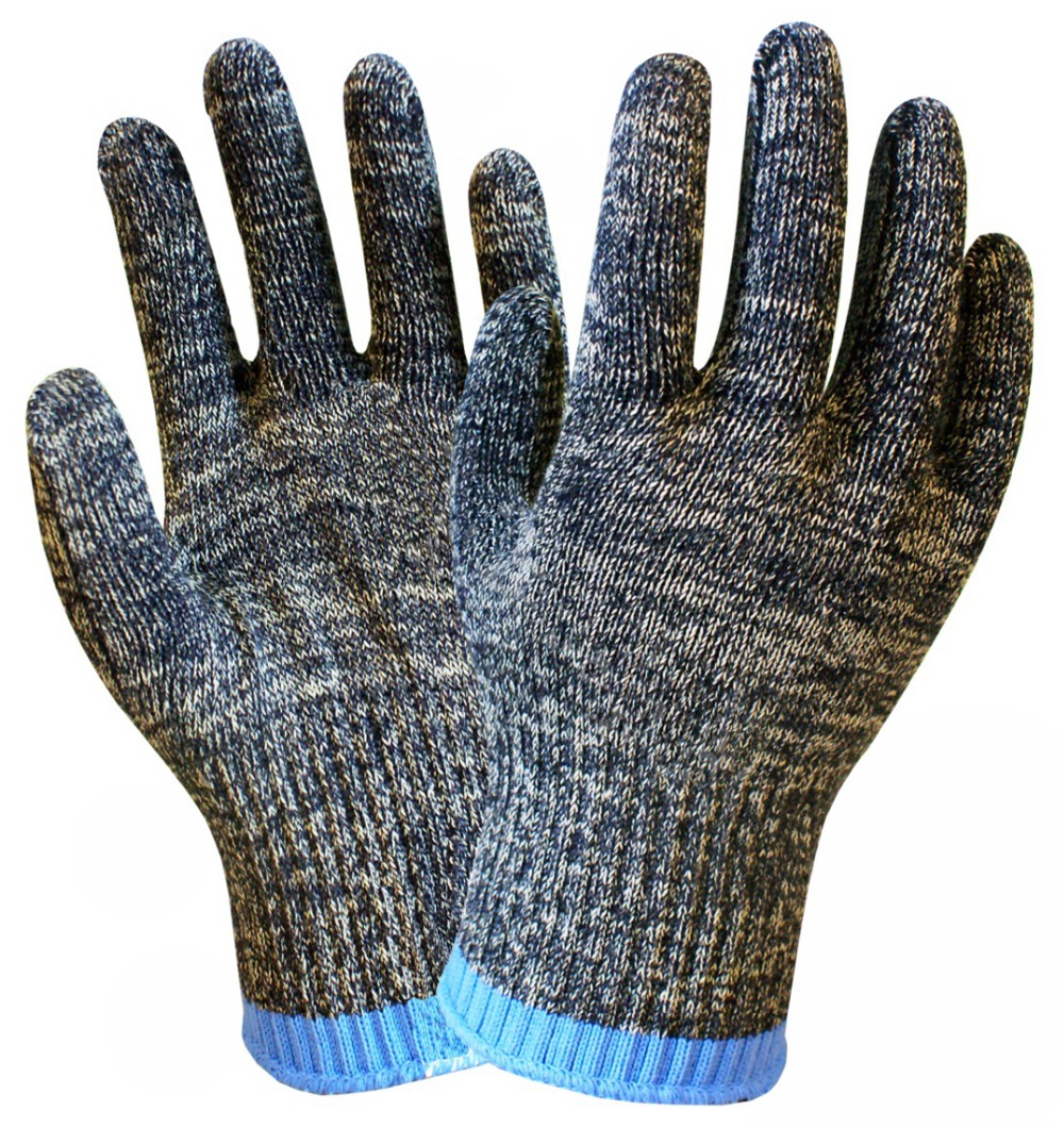 Υψηλός κίνδυνος κοπής Μεταλλική σφράγιση Γυαλί χειρισμού Γάντια εργασίας Κρεοπωλείο Γάντια Αντιολισθητική γάντια από ίνες αραμιδίου