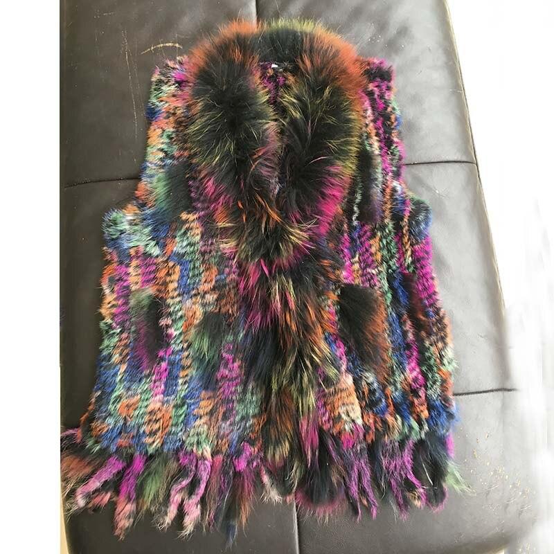 2 3 Fourrure Gilet color Mode Rex Vraie Styles Les 1 Lapin Femme Vente Manteaux color Coloré Tricoté 4 Pour Nouveaux color Réel Femmes Veste Chaude Color De cSqAgBqW