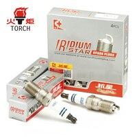 4pcs Lot China TORCH Car Candles Double Iridium Car Spark Plugs K6II For Audi A3 A4
