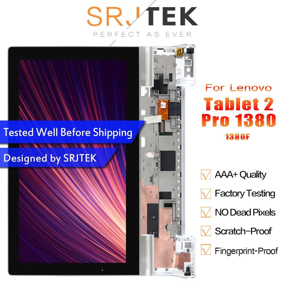 """SRJTEK 13.3 """"wyświetlacz dla Lenovo Yoga Tablet 2 Pro 1380 1380F matryca wyświetlacza LCD ekran dotykowy Digitizer zgromadzenie kompletna w czarny biały z ramą w Ekrany LCD i panele do tabletów od Komputer i biuro na AliExpress - 11.11_Double 11Singles' Day 1"""
