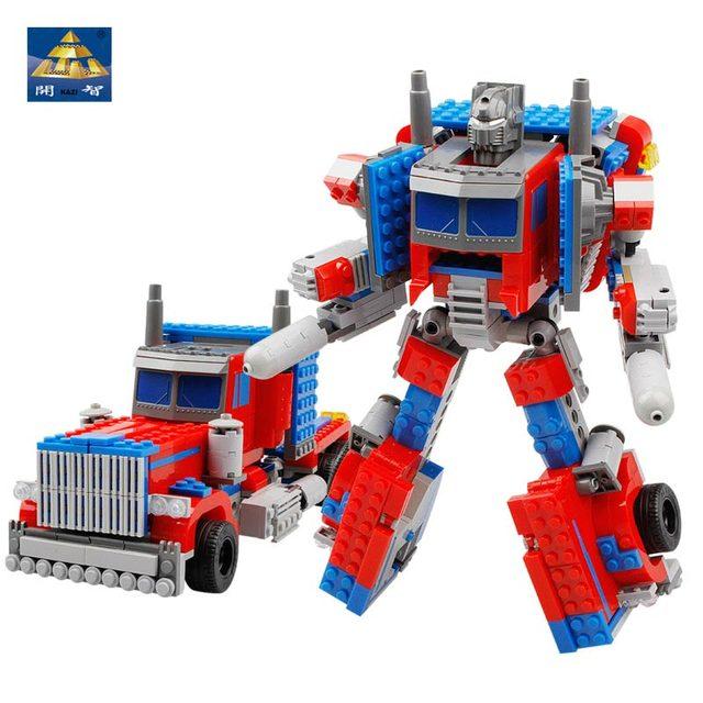 Kazi Bricks Optimus Prime King Kong Montessori Educational Toy robot's State Deformation Original Model Bede Bildt Car Styling