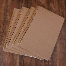 A5 Bullet Notebook Kraft Dot Grid Time Management Blank Book Spiral Journal Weekly Planner School Office Supplies a5 spiral book 50 sheets coil notebook lined dot blank grid paper dotted diary school supplies stationery store spiral journal