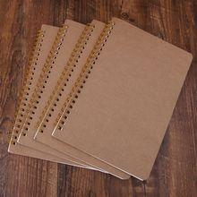 цены A5 Bullet Notebook Kraft Dot Grid Time Management Blank Book Spiral Journal Weekly Planner School Office Supplies