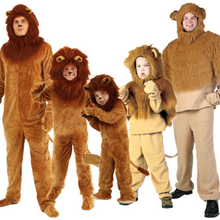 Halloween children's cosplay costume Wizard of Oz, stage performance, adult children long haired lions costumes. все цены