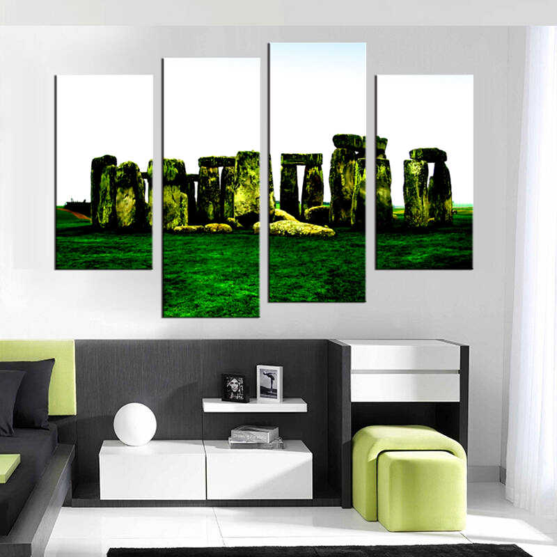 4 шт./компл. красивый Луг настенное искусство для декора стен картина для оформления Дома Краска на холсте Печать Картина на холсте в рамке