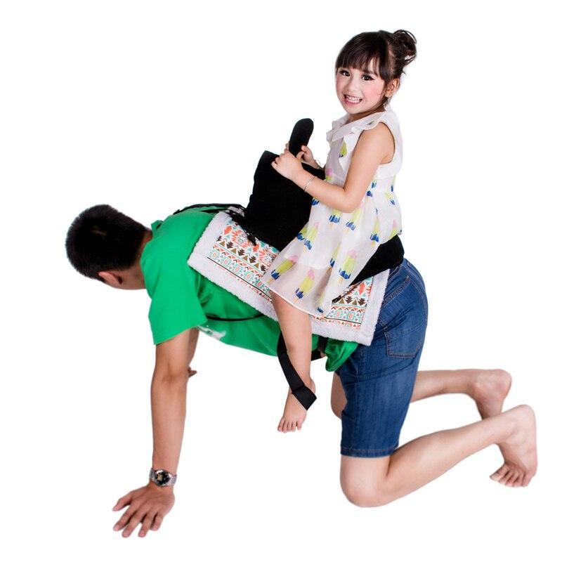 1 Set jeux parentaux Daddle selle cheval jouet nouveauté siège coussin pour bébé enfants créatif drôle heureux famille jeu