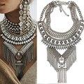 Nova DYLA Mulheres Vintage Estilo Exagerado Rhinestone Embutidos NK862 Metal Encantos Pingente Declaração Colar de Jóias Por Atacado