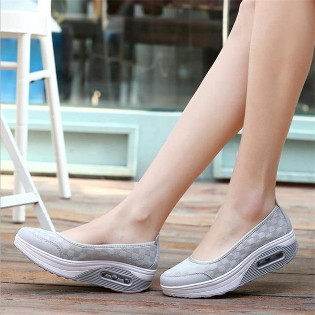 2019 Summer new Women's thick-soled shoes shake fashion casual Shake shoes thick bottom sponge cake single cushion shoes s012 1
