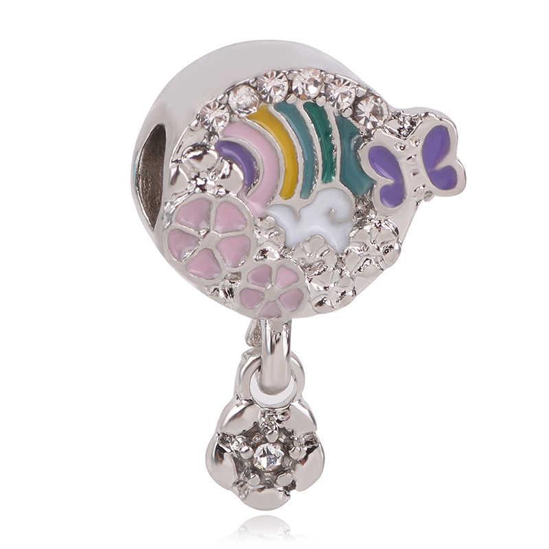 Fit Pandora สร้อยข้อมือ DIY ผู้หญิงใหม่ 925 เงินเล็บ Love รังผึ้งลูกปัดจี้ Dangle Charm