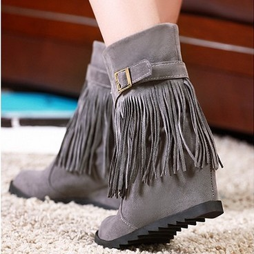 Spring Fashion New 2014 Cherokee Indian Faux Suede Hidden