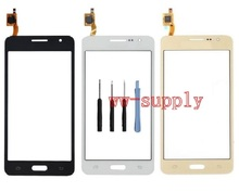 Front Touch Screen Digitizer Sensor Glass Panel + Adhesive Sticker + Kits For Samsung Galaxy Grand Prime SM-G531H G531H/DS