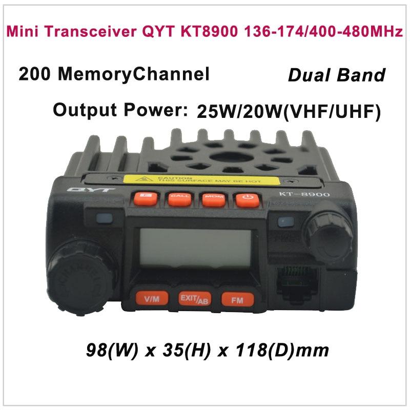QYT KT-8900 KT8900 mini adó-vevő KT8900 VHF136-174 / UHF400-480MHz mobil adó-vevő QYT KT-8900 autórádió