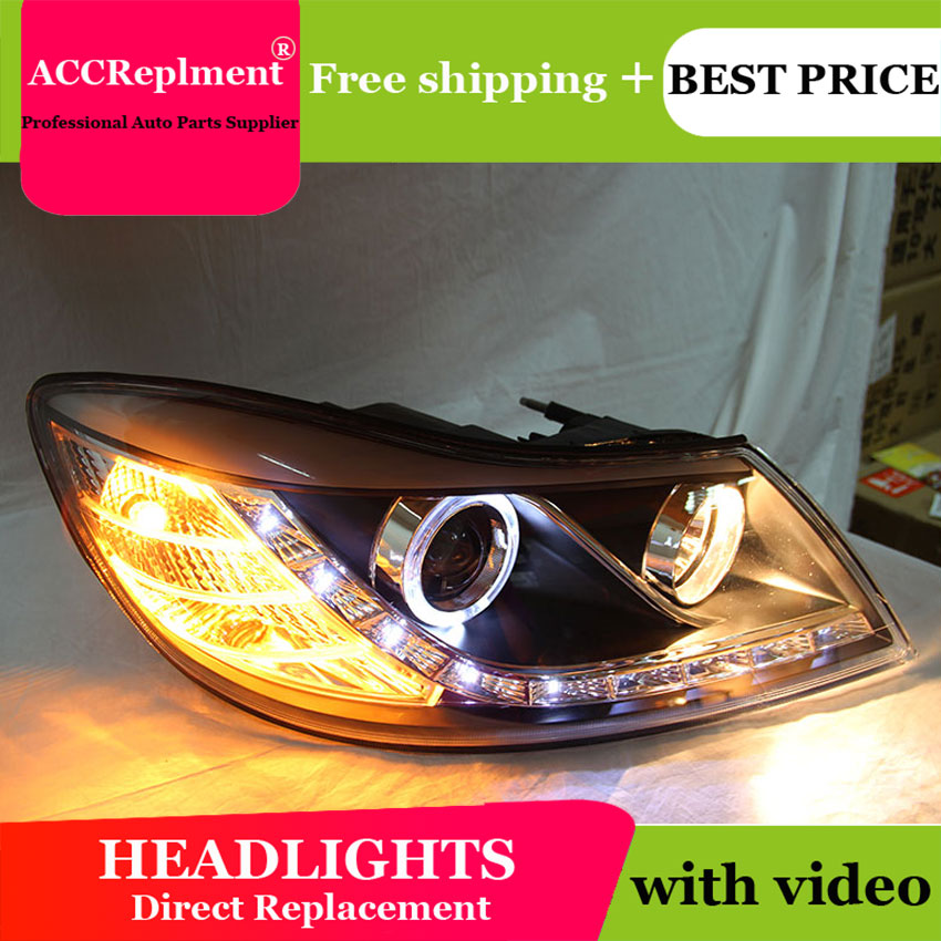 Авто PRO 2009 2012 для skoda octavia фары для автомобиля Стайлинг U LED свет руководство ангельские глазки DRL Парковка для octavia a 5 головная лампа - 3