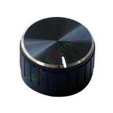 En gros et au détail 12pc 30mm Pédale Top jupe Noir bouton Guitare tube Amp JAZZ BASS audio bricolage pièces