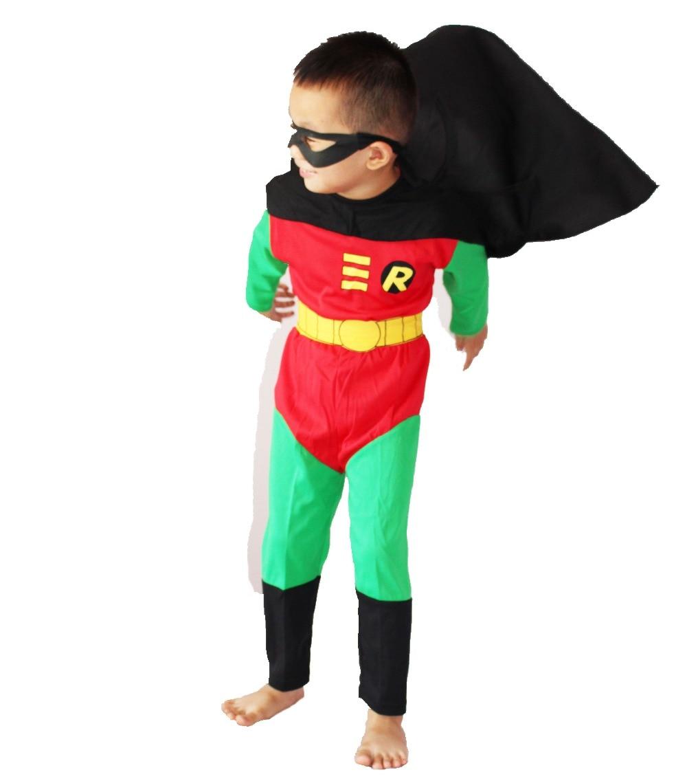 Հելոուին զգեստներ Մանկական մոդելային հագուստ Դերեսանի հագուստ Դերասանի տղա Wonder robin size: 5 # -13 #