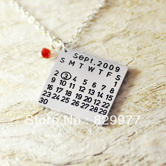 Customized Necklace square shape personalized alloy necklace with