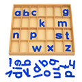 Upgraded New Educational Teaching Montessori Materials Alphabet Letters 35cm*34cm*2.7cm Wooden Toys Wooden Letter Toy WD45