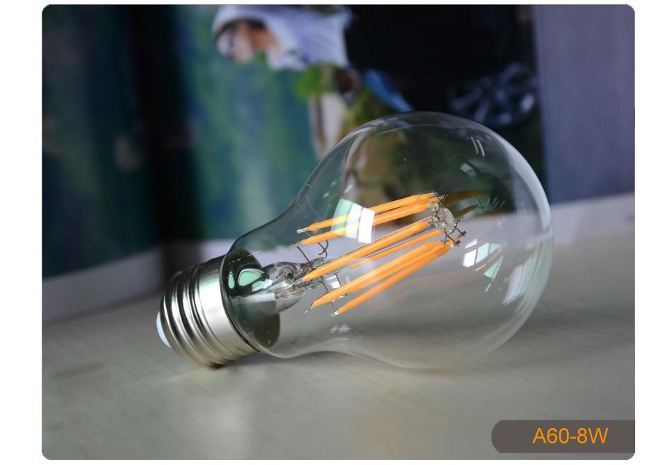Dimmable Antique Retro Edison Incandescent LED lamp 110V E27 2W 4W 6W (14)