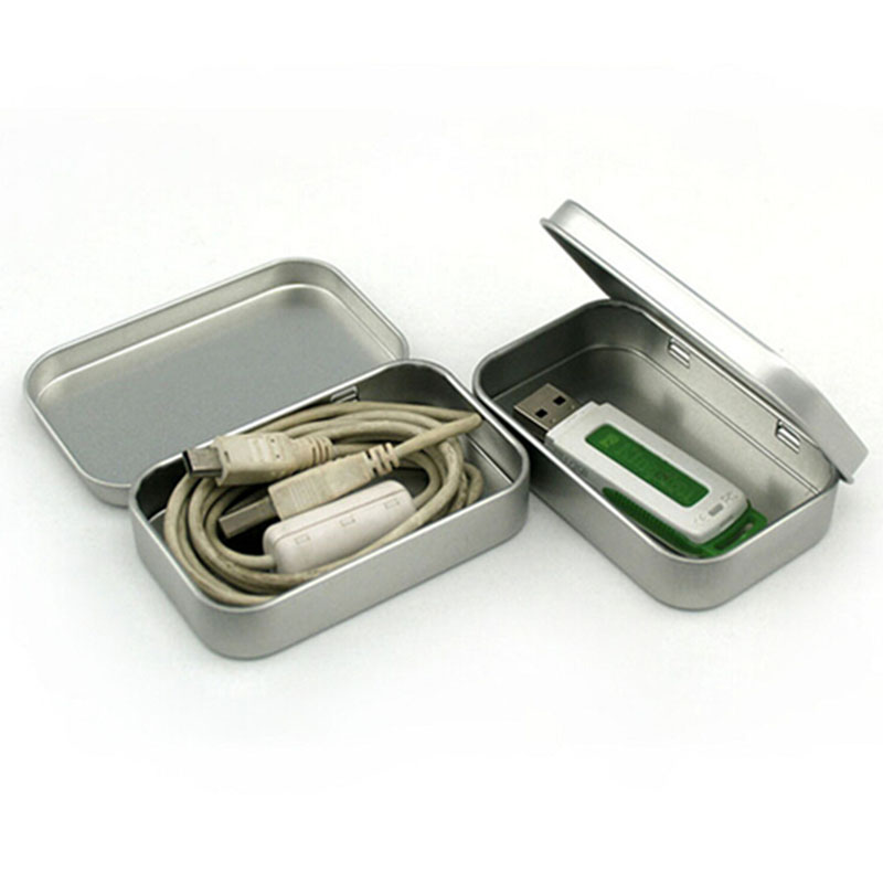 Survival Kit Tin Higen Lid Small Empty Silver Flip Metal Storage Box Case  Organizer For Money