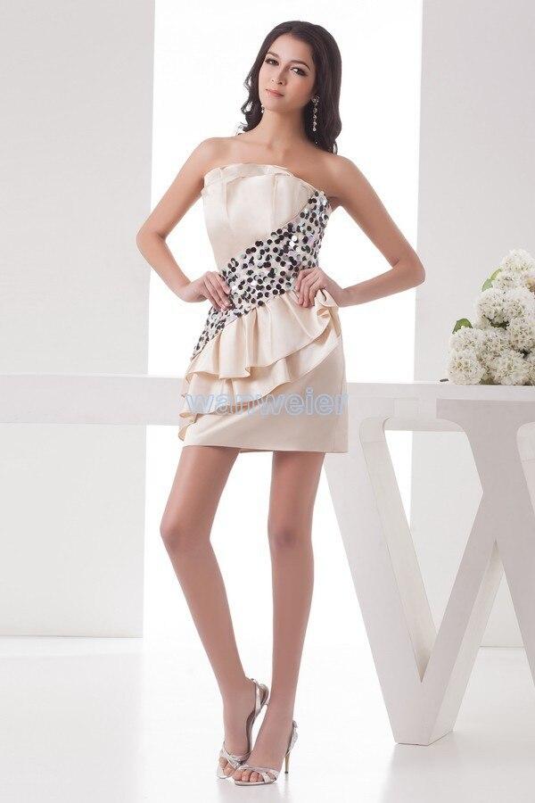 Livraison gratuite 2015 femmes formelle de nouveau design vente chaude domestique de jeunes mariées robe courte mini paillettes sexy Robes de Cocktail partie robe