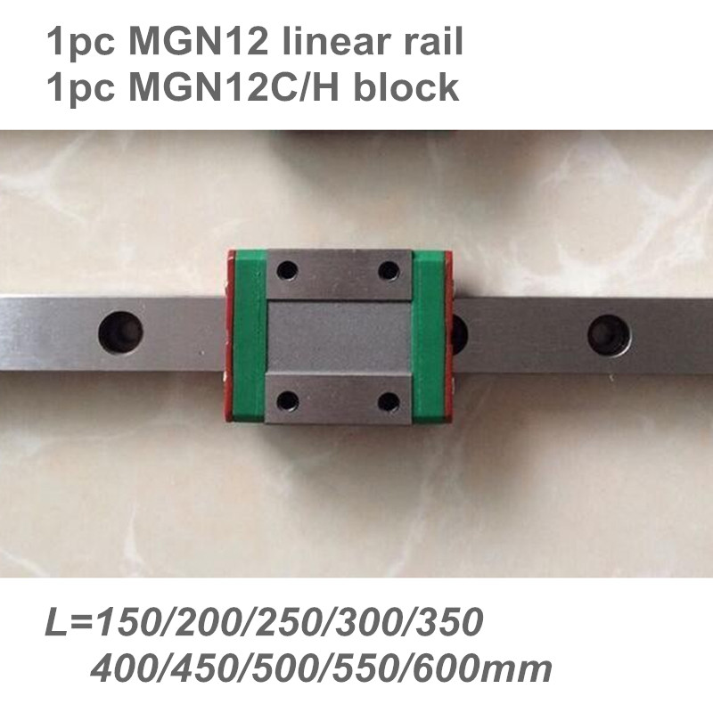 12 мм линейная направляющая MGN12 L = 150 200 300 350 400 450 500 550 600 мм линейная направляющая + MGN12C или MGN12H линейная каретка CNC X Y Z