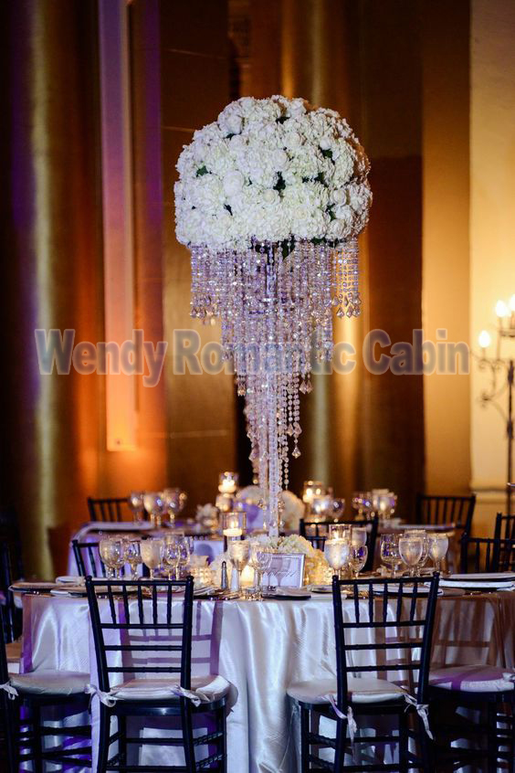 100cm Tall Wedding Crystal Chandelier Wedding Flower Stand