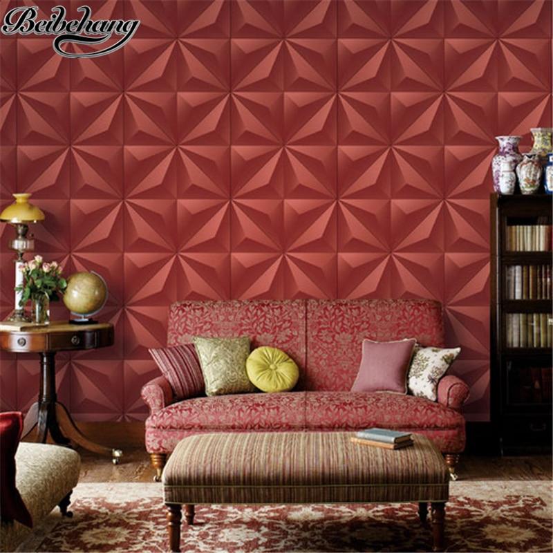 modern background living soft simple grid tv golden wallpapers beibehang 3d