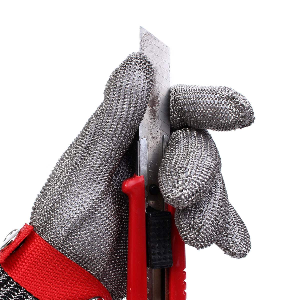 New Safety Cut Proof Stab Resistant Stainless Steel Metal Mesh Gloves Grade 5 Protective Gloves 10 pair safety cut proof stab resistant stainless steel wire metal mesh butcher gloves cut resistant working safety