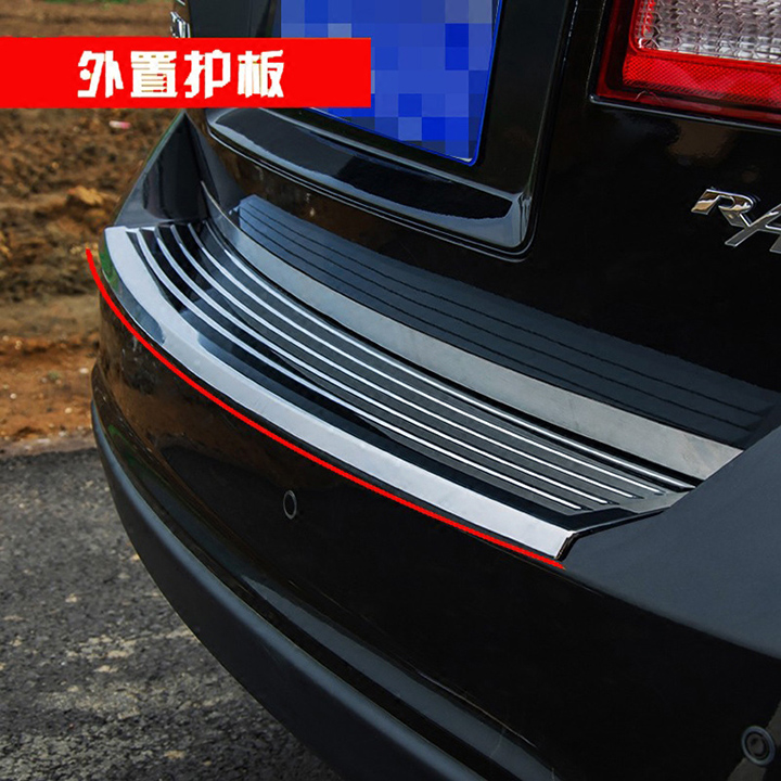 Auto parts Stainless steel Rear Bumper Protector Sill Trunk Tread Plate Trim fit for 2009-2016 Dodge Journey/Jcuv Car styling for hyundai new tucson 2015 2016 2017 stainless steel skid plate bumper protector bull bar 1 or 2pcs set quality supplier
