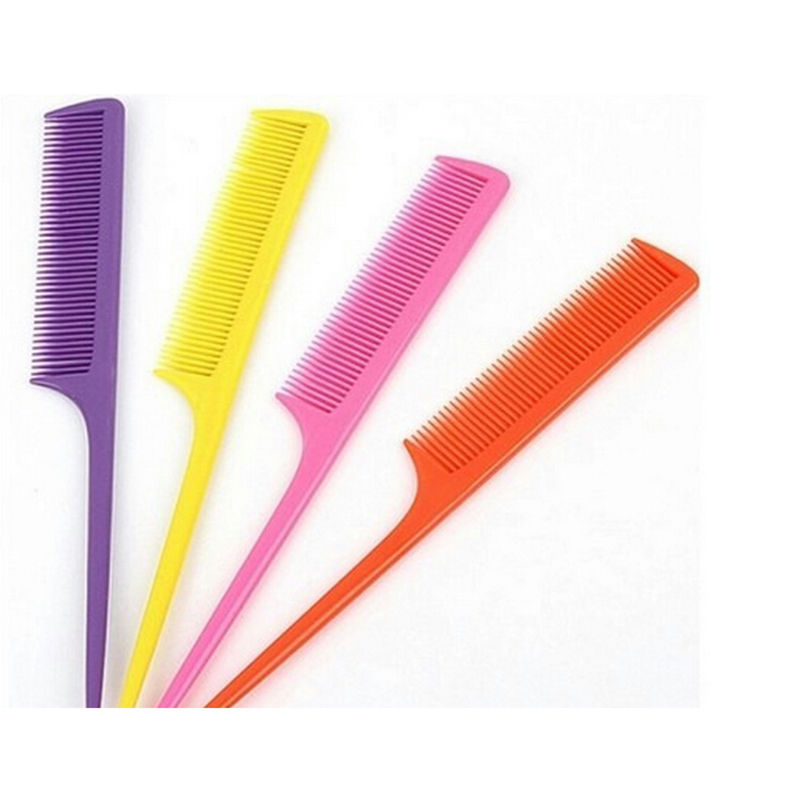 Colorful 10 Pcs/lot Hair Pointed Tail Comb Nicety Type
