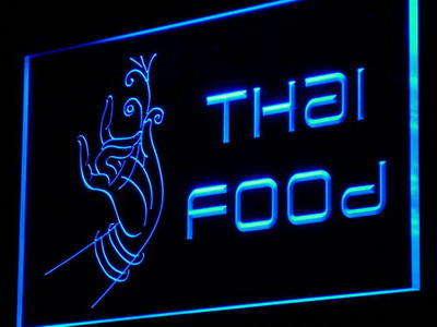 i977 Thai Food Thailand Restaurant Cafe Light Sign On/Off Swtich 20+ Colors 5 Sizes