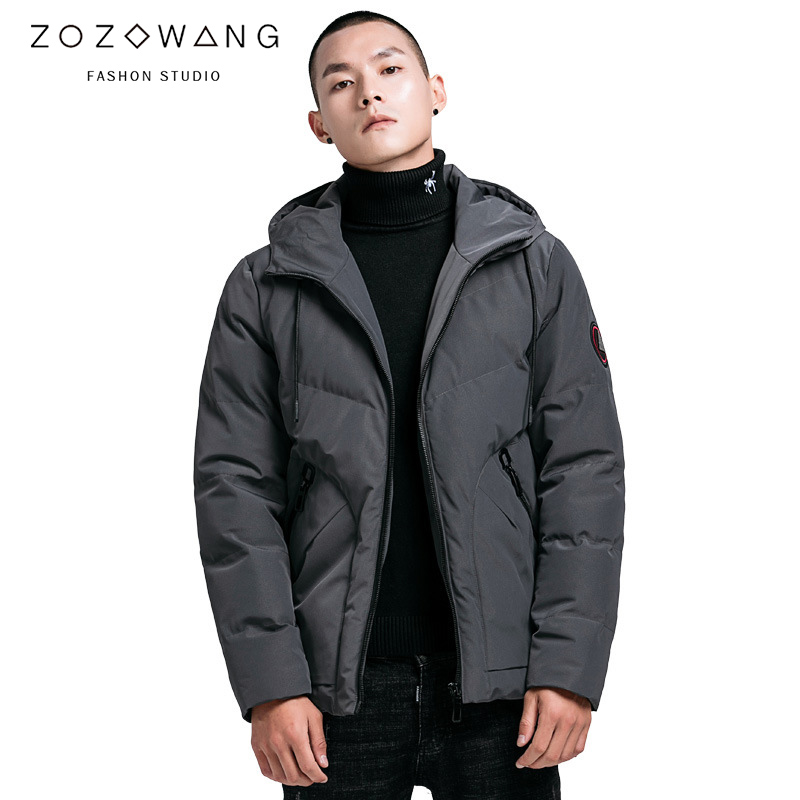 ZOZOWANG 2019 Spring winter jacket men hooded thick down-cotton plus size Casual   Parka   men 4XL top quality warm fashion Epaulet