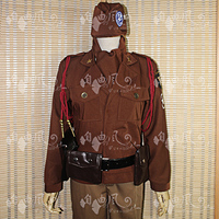 Axis powers hetalia Alfred F Jones Cosplay Costume Uniform Outfit Shirt+Scarf+Coat+Pants+Belt+Bag Custom made