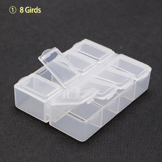 fb09b18495f Mini Tamanho 8 Grade 78x61x20mm Retângulo Subconjunto Invólucro de Plástico  Organizador Peças Caixa de Componentes Eletrônicos
