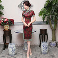 Shanghai Story Top Quality short sleeve national trend chinese dress Floral cheongsam china Qipao chinese traditional dress