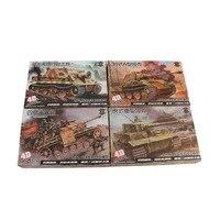 TAIHONGYU 1:72 4D Model WWII 4pcs Tank Models Military Collections Assemble Model Kit