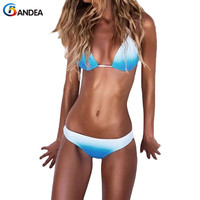 BANDEA 2017 Sexy Bikini Set Women Swimwear Female Brazilian Bikini Halter Top Swimwear Strappy Bathing Suit