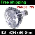 Free shiping par 30 led E27 7W led spotlight par30 7*1W led bulb lamp AC 85-265V 110V 220V 230V 240V free shipping