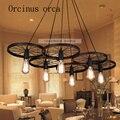 Американский ресторан кафе бар железная лампа ретро люстра Креативная одежда колесо бесплатная доставка