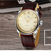 WACHES WATCH Mechanical Mens Automatic Clock Men Fashion Leather Watch Top Quality Waterproof Luxury Wristwatch Military