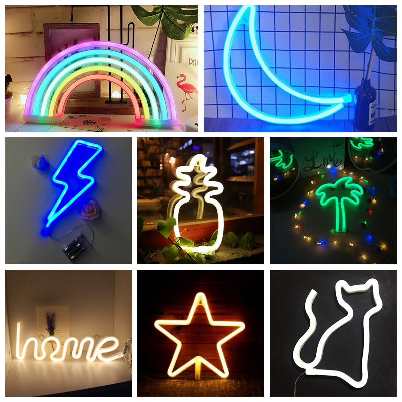 2019 Creative Neon Sign Light Kids Room Night Lamp Coffee Bar Mural For Room Home Party Wedding Decoration Xmas Gift Neon Lamp