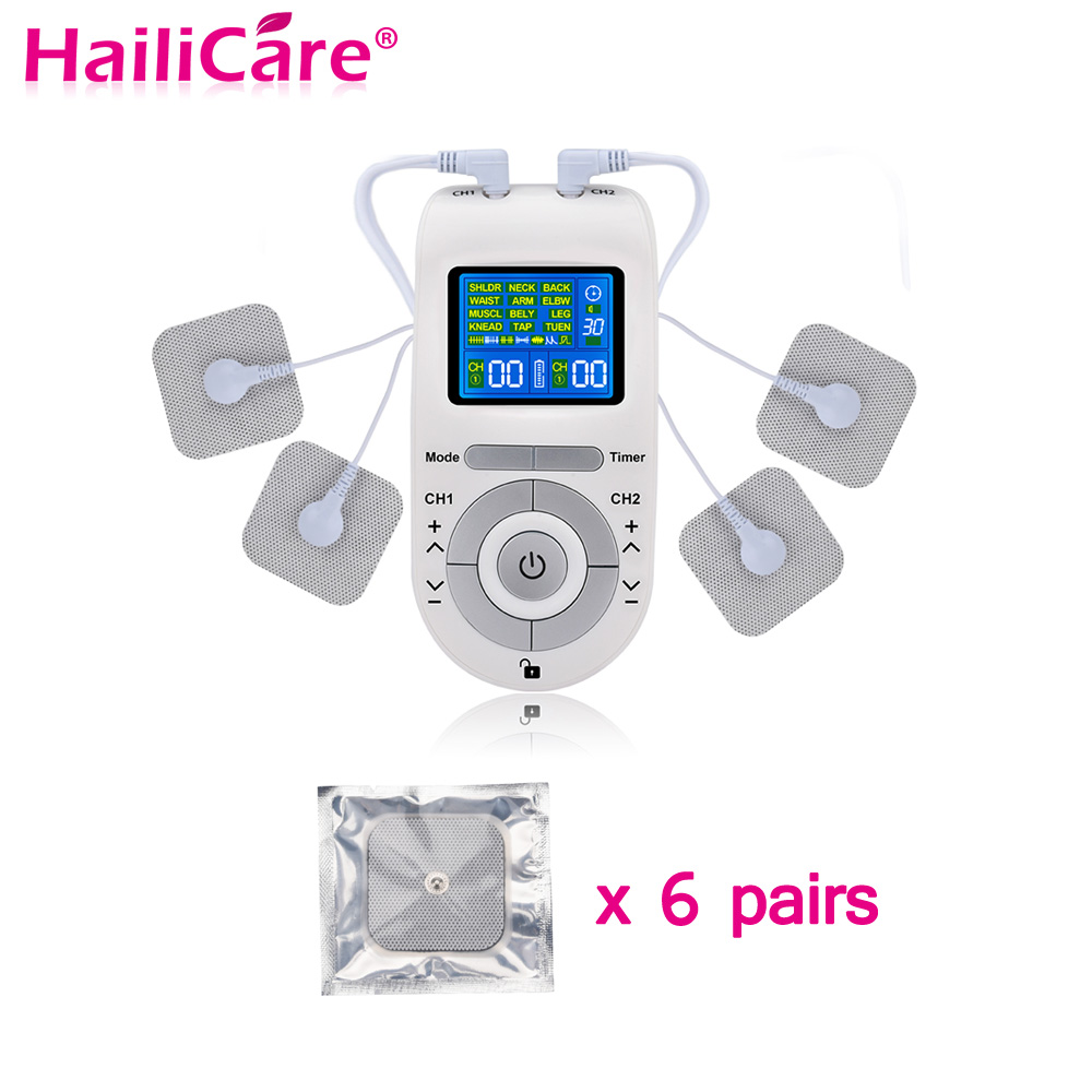 c2f7b3c53a 12 Modes Tens Machine Unit with 4 Electrode Pads for Pain Relief Pulse  Massage Muscle