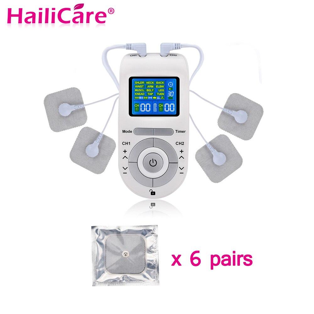 12 Modes dizaines unité Machine avec 4 électrodes pour le soulagement de la douleur Massage des impulsions EMS Stimulation musculaire dizaines électroestimulador